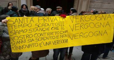sciopero dipendente case di cura e cliniche private a Bologna