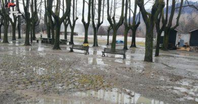 coltre di fango esondazione fiume Reno nel Bolognese