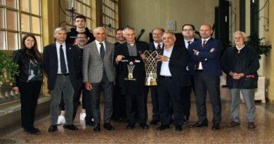 Virtus Bologna benedetta dall'arcivescovo di Bologna Matteo Zuppi