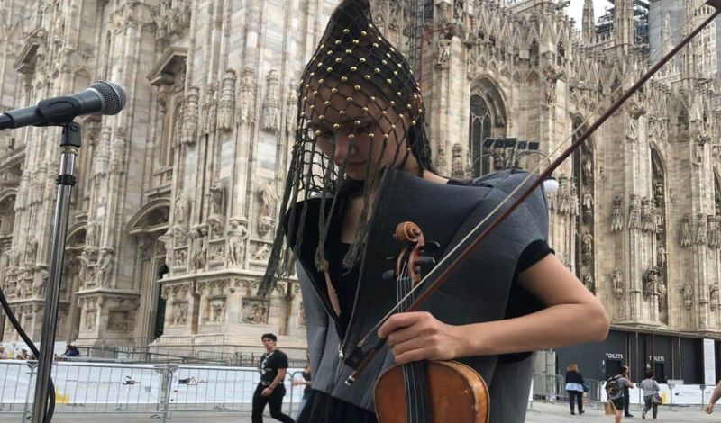 daria fisher violinista di strada