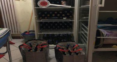 deposito di birre abusive in via del pratello